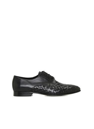 Divarese Divarese 5024555 Desenli Erkek Deri Ayakkabı Siyah